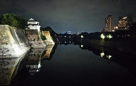 如何游览夜晚的Miraiza大阪城